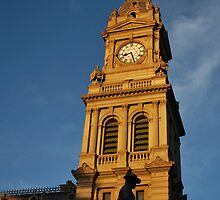 Bendigo's Old Post Office, Clock Tower by Lozzar Flowers & Art