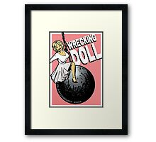 Wrecking Doll (pink) Framed Print