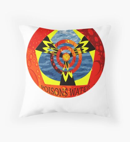 Uranium Mining Poisons Water Throw Pillow