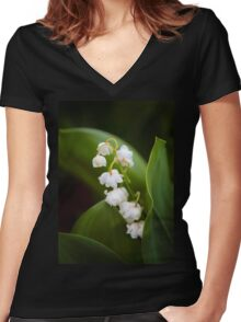 Lily of the Valley Women's Fitted V-Neck T-Shirt