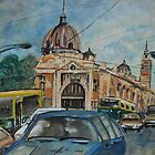 City Landscape: Flinders Street Station by Lozzar Flowers & Art