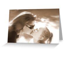 Sepia Kisses Greeting Card