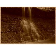 Blue Hen Falls in Sepia Photographic Print