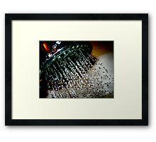 Sharp Shower Framed Print