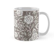 Roses lace seamless pattern. Mug