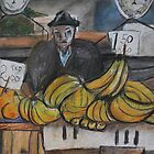 City Landscapes:  Banana seller by Lozzar Flowers & Art