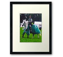 Lone Knight Framed Print
