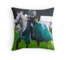 Lone Knight Throw Pillow