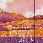 """....prime location with spectacular views of Mt Boogarum"" (diptych) by Karyn Fendley"
