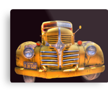 Old yellow dodge Metal Print