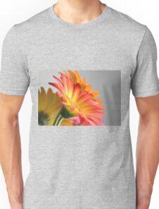 Flower on Gray Unisex T-Shirt