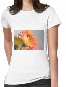 Flower on Gray Womens Fitted T-Shirt