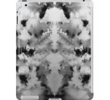 Monochrome brusho print iPad Case/Skin