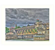 Portland Or Bridge 1 Art Print