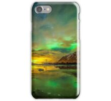 Aurora green iPhone Case/Skin