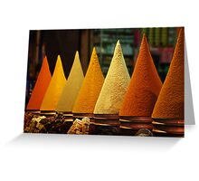 Moroccan Spice Rack Greeting Card