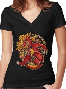 Charmeleon  Women's Fitted V-Neck T-Shirt