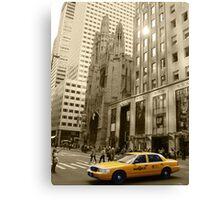 'Yellow Cab' Canvas Print