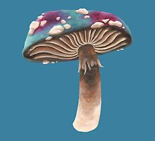 Purple and Blue Spotted Toadstool by ImogenSmid
