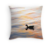 Colourful Duck Sunset Throw Pillow