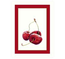 Three Cherries Art Print