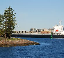 Coal ship Bulk Monaco - Port of Newcastle NSW by Phil Woodman