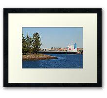 Coal ship Bulk Monaco - Port of Newcastle NSW Framed Print