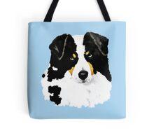 Black Tri Australian Shepherd Portrait Tote Bag