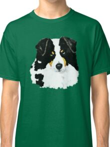 Black Tri Australian Shepherd Portrait Classic T-Shirt