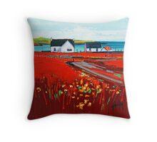 Orange Roof, Barra Throw Pillow