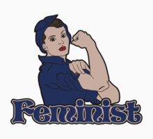 Feminist rosie riveter Kids Clothes