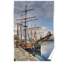 Tall Ships 'Zebu' & 'Vilma' - Canning Dock, Liverpool Poster