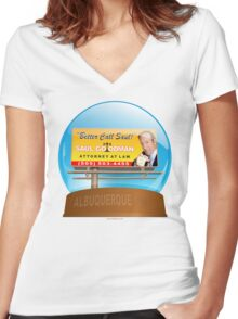Better Call Saul! Women's Fitted V-Neck T-Shirt