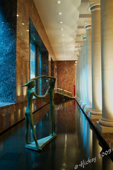 Waterdance Behind the Foyer by Hicksy