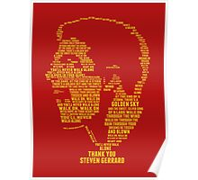 Thank You Steven Gerrard Poster