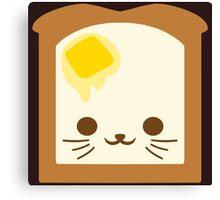 Kawaii Toast Canvas Print