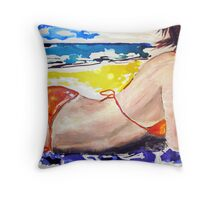Bondi Beach babe  Throw Pillow