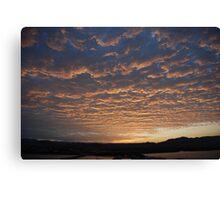 Warming sunset Canvas Print