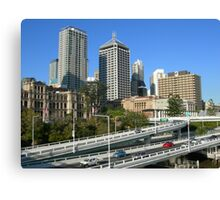 Freeway beside the city Canvas Print