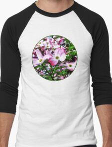Pink Dogwood Blossoms Men's Baseball ¾ T-Shirt