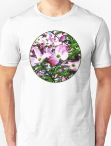 Pink Dogwood Blossoms Unisex T-Shirt