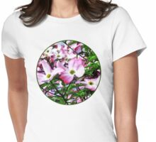 Pink Dogwood Blossoms Womens Fitted T-Shirt