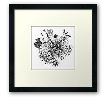 Foral composition Framed Print