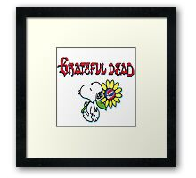 Snoopy flowers Framed Print