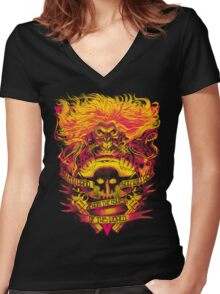 FURY ROAD: IMMORTAN JOE Women's Fitted V-Neck T-Shirt