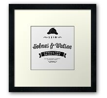 Holmes and Watson Consulting Framed Print
