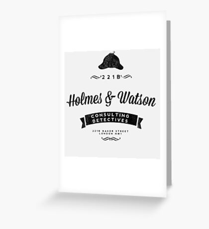 Holmes and Watson Consulting Greeting Card