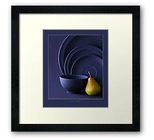 PEAR & POTTERY Framed Print