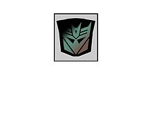 Transformers - Decepticon Rubsign iPhone Case (White) by Dave Brogden