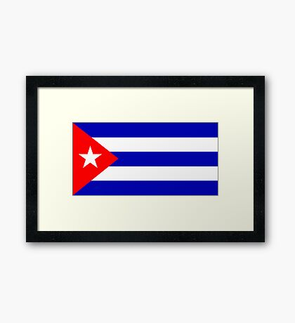 Cuba, national id Framed Print